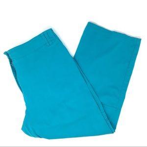 Chico's Teal Cargo Crop Pants